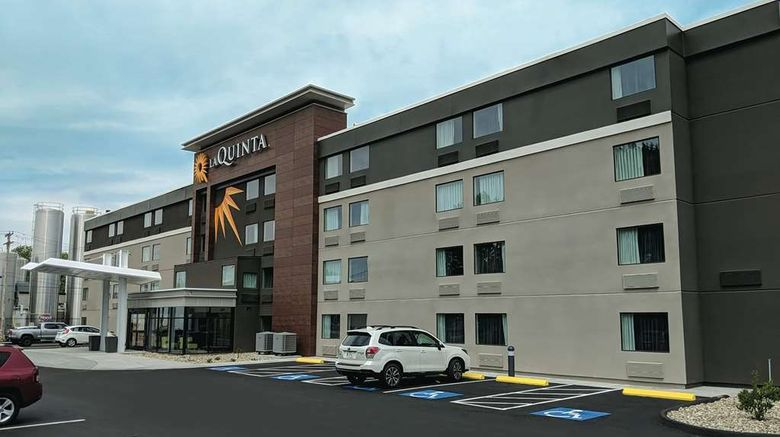 """La Quinta Inn  and  Suites Portland Exterior. Images powered by <a href=""""http://web.iceportal.com"""" target=""""_blank"""" rel=""""noopener"""">Ice Portal</a>."""