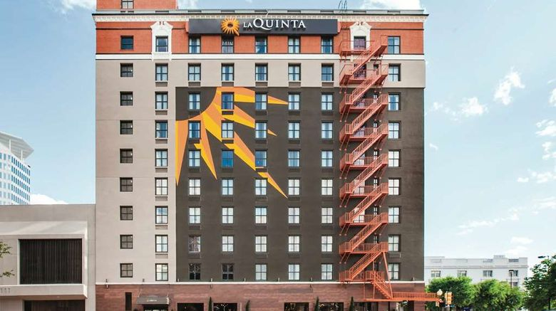 """La Quinta Inn  and  Suites Dallas Downtown Exterior. Images powered by <a href=""""http://web.iceportal.com"""" target=""""_blank"""" rel=""""noopener"""">Ice Portal</a>."""