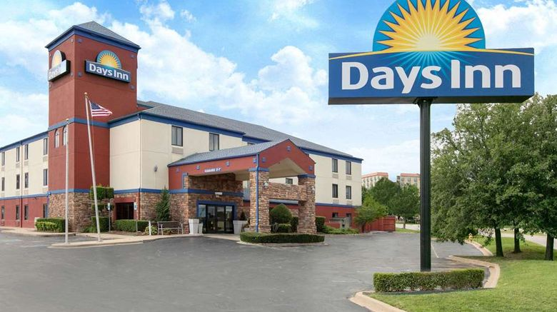 """Days Inn Tulsa Central Exterior. Images powered by <a href=""""http://web.iceportal.com"""" target=""""_blank"""" rel=""""noopener"""">Ice Portal</a>."""