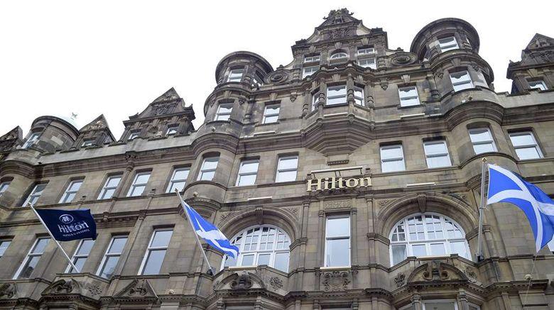 "Hilton Edinburgh Carlton Exterior. Images powered by <a href=""http://web.iceportal.com"" target=""_blank"" rel=""noopener"">Ice Portal</a>."