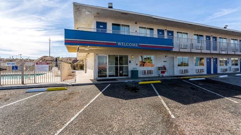 """Motel 6 Needles Exterior. Images powered by <a href=""""http://web.iceportal.com"""" target=""""_blank"""" rel=""""noopener"""">Ice Portal</a>."""
