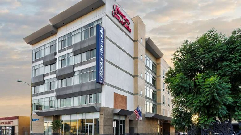 """Hampton Inn/Suites Los Angeles/Hollywood Exterior. Images powered by <a href=""""http://web.iceportal.com"""" target=""""_blank"""" rel=""""noopener"""">Ice Portal</a>."""