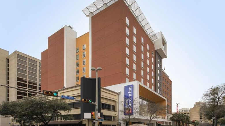 """Hilton Garden Inn San Antonio Downtown Exterior. Images powered by <a href=""""http://web.iceportal.com"""" target=""""_blank"""" rel=""""noopener"""">Ice Portal</a>."""