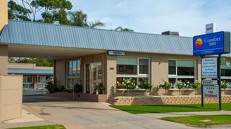 """Comfort Inn Campbell Exterior. Images powered by <a href=""""http://web.iceportal.com"""" target=""""_blank"""" rel=""""noopener"""">Ice Portal</a>."""