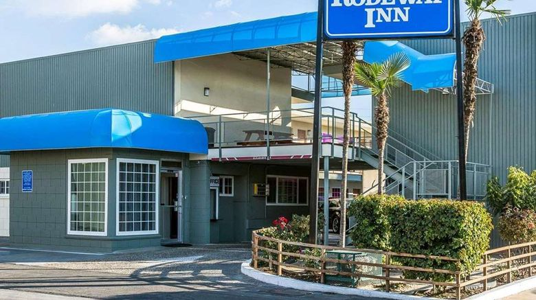 """Rodeway Inn Hanford Exterior. Images powered by <a href=""""http://web.iceportal.com"""" target=""""_blank"""" rel=""""noopener"""">Ice Portal</a>."""