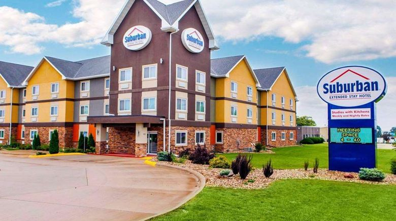 """Suburban Extended Stay Exterior. Images powered by <a href=""""http://web.iceportal.com"""" target=""""_blank"""" rel=""""noopener"""">Ice Portal</a>."""