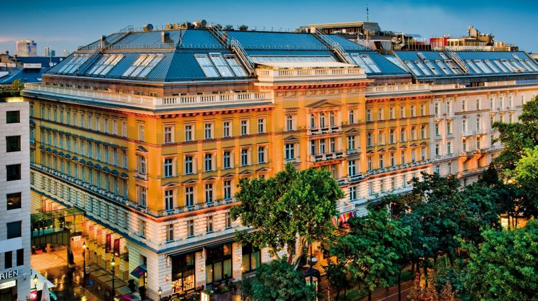 "Grand Hotel Wien Exterior. Images powered by <a href=""http://www.leonardo.com"" target=""_blank"" rel=""noopener"">Leonardo</a>."