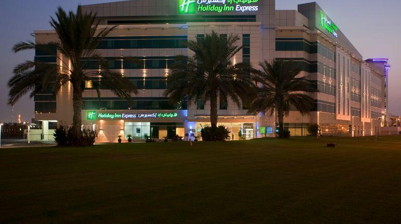 "Holiday Inn Express Dubai Airport Exterior. Images powered by <a href=""http://www.leonardo.com"" target=""_blank"" rel=""noopener"">Leonardo</a>."