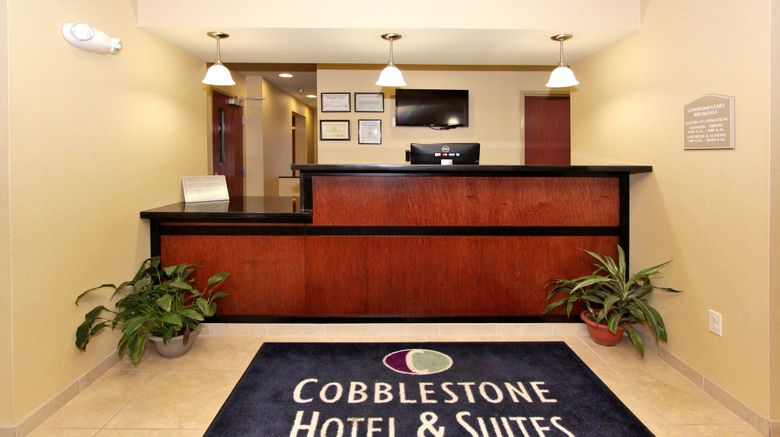 "Cobblestone Hotel  and  Suites - Seward Lobby. Images powered by <a href=""http://www.leonardo.com"" target=""_blank"" rel=""noopener"">Leonardo</a>."