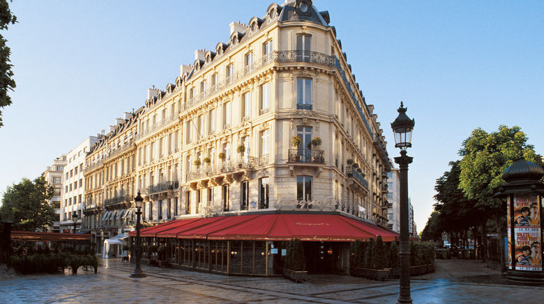 """The Hotel Fouquets Barriere Exterior. Images powered by <a href=""""http://www.leonardo.com"""" target=""""_blank"""" rel=""""noopener"""">Leonardo</a>."""
