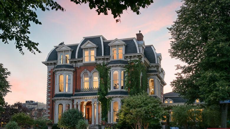 "The Mansion on Delaware Avenue Exterior. Images powered by <a href=""http://www.leonardo.com"" target=""_blank"" rel=""noopener"">Leonardo</a>."
