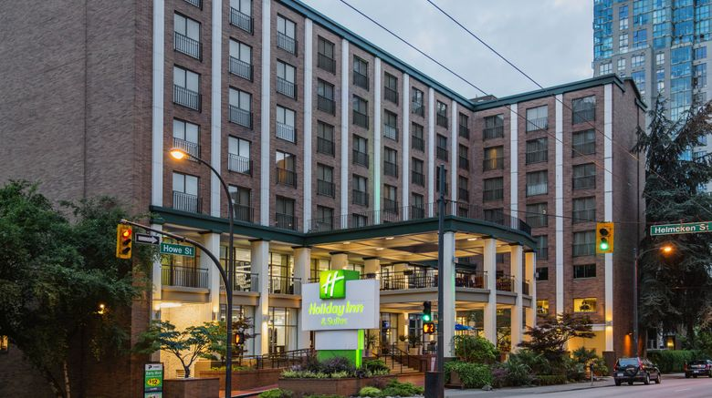 """Holiday Inn  and  Suites Vancouver Downtown Exterior. Images powered by <a href=""""http://www.leonardo.com"""" target=""""_blank"""" rel=""""noopener"""">Leonardo</a>."""