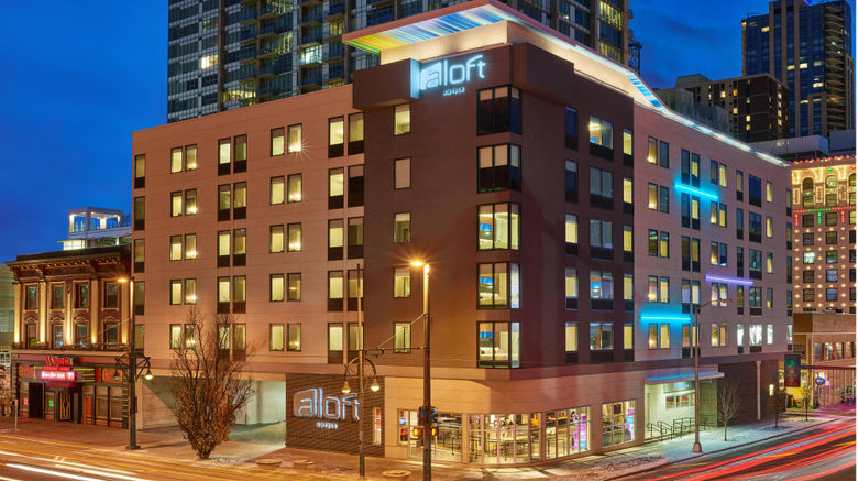 "aloft Denver Downtown Exterior. Images powered by <a href=""http://www.leonardo.com"" target=""_blank"" rel=""noopener"">Leonardo</a>."