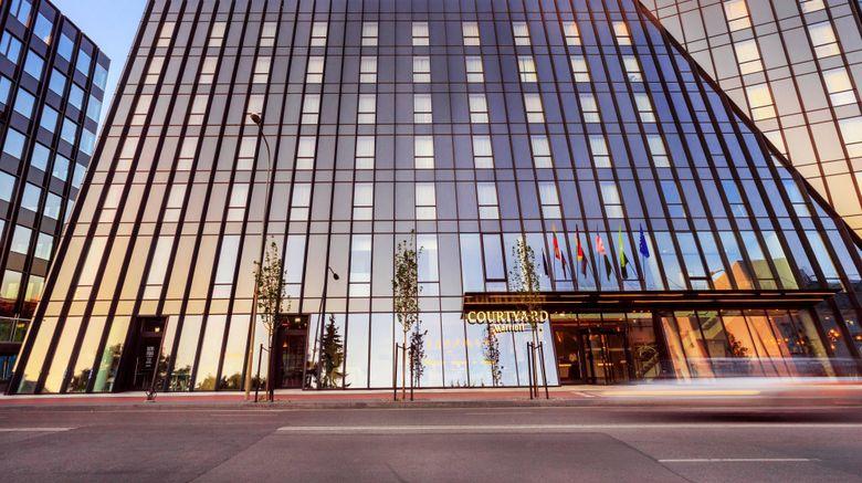 "Courtyard Vilnius City Center Exterior. Images powered by <a href=""http://www.leonardo.com"" target=""_blank"" rel=""noopener"">Leonardo</a>."