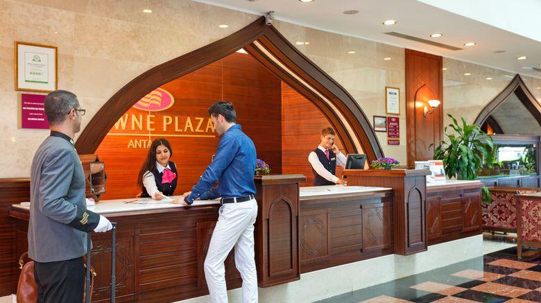 "Crowne Plaza Hotel Antalya Exterior. Images powered by <a href=""http://www.leonardo.com"" target=""_blank"" rel=""noopener"">Leonardo</a>."
