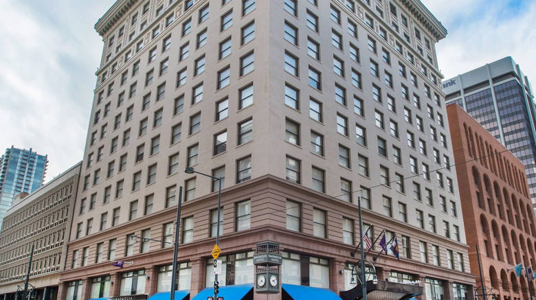 """Magnolia Denver, Tribute Portfolio Hotel Exterior. Images powered by <a href=""""http://www.leonardo.com"""" target=""""_blank"""" rel=""""noopener"""">Leonardo</a>."""