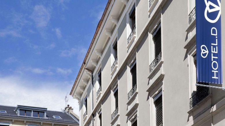 "Hotel D Exterior. Images powered by <a href=""http://www.leonardo.com"" target=""_blank"" rel=""noopener"">Leonardo</a>."