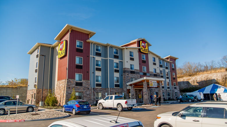 """My Place Hotel-Independence Exterior. Images powered by <a href=""""http://www.leonardo.com"""" target=""""_blank"""" rel=""""noopener"""">Leonardo</a>."""
