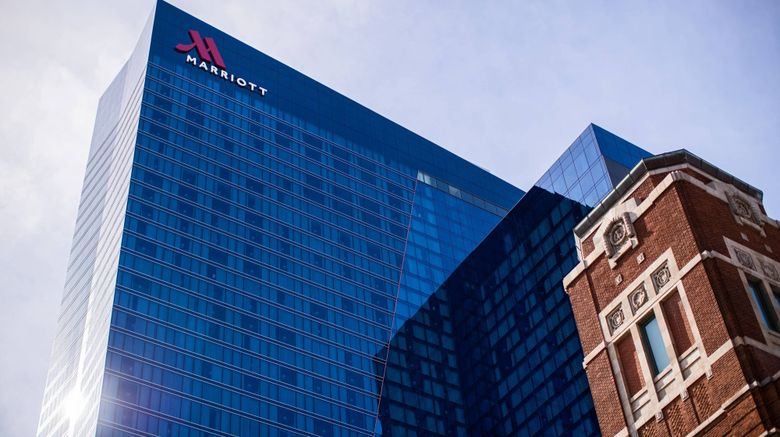 "Marriott Marquis Chicago Exterior. Images powered by <a href=""http://www.leonardo.com"" target=""_blank"" rel=""noopener"">Leonardo</a>."