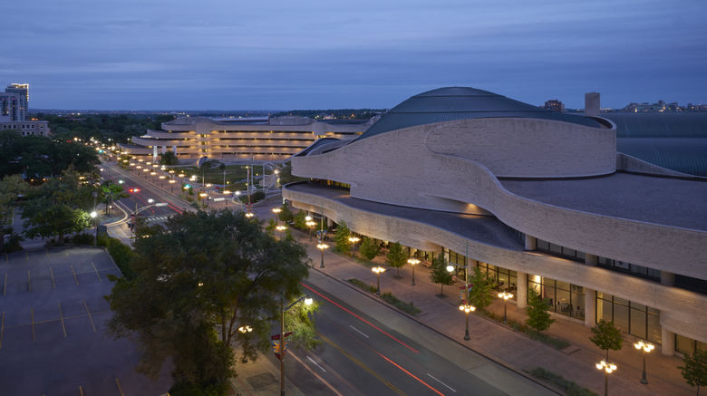 """Four Points by Sheraton Hotel  and  Conf Ctr Exterior. Images powered by <a href=""""http://www.leonardo.com"""" target=""""_blank"""" rel=""""noopener"""">Leonardo</a>."""