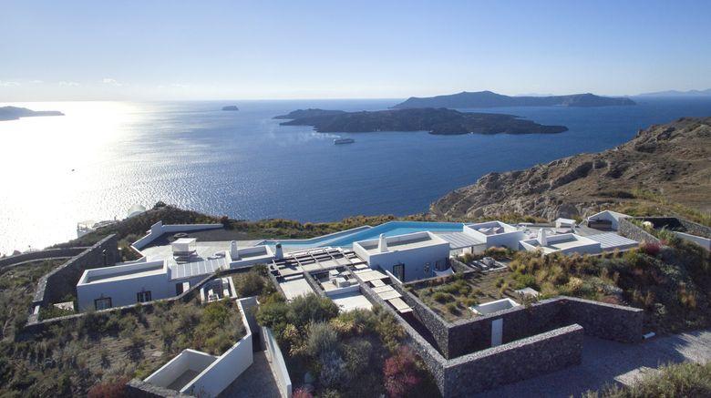 """Erosantorini Estate, a Design Hotel Exterior. Images powered by <a href=""""http://www.leonardo.com"""" target=""""_blank"""" rel=""""noopener"""">Leonardo</a>."""
