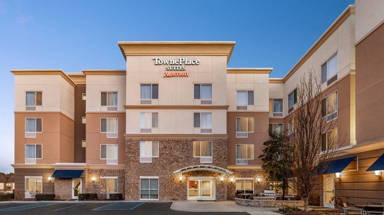 """TownePlace Suites Near Hamilton Place Exterior. Images powered by <a href=""""http://www.leonardo.com"""" target=""""_blank"""" rel=""""noopener"""">Leonardo</a>."""