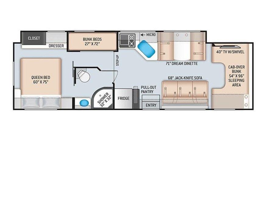 2022 THOR CHATEAU Floorplan