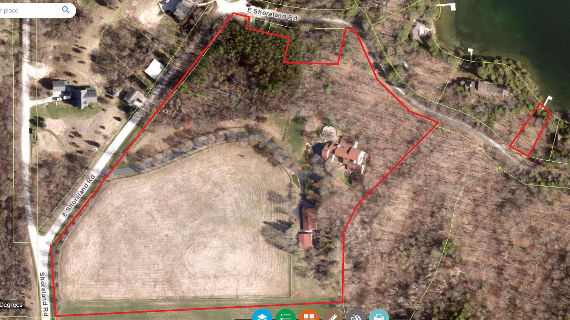107 of 108. Lot Lines - 12 Acre Farm