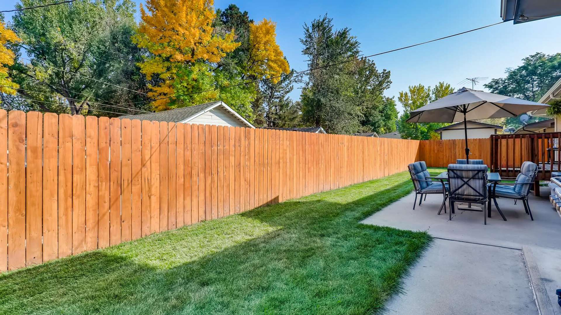 34 of 38. Newer privacy fence and well taken care of lawn