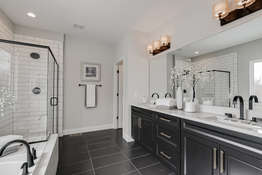 Double Vanity with Cultured Marble Top