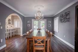 Formal Dining Room with a glass French door to the backyard patio!