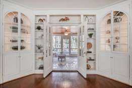 Built-in, Handcrafted Corner Cabinets