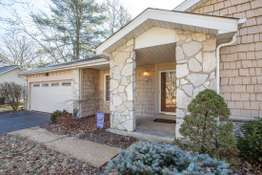 Stone Columns at Front Porch