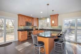 Updated Kitchen with Solid Surface Counters