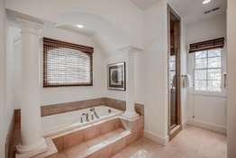 Jetted Tub Flanked by Columns