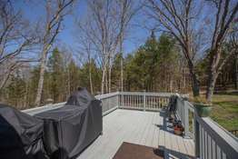 Uncovered 10x20 extension of the deck - perfect for grilling and outdoor dining!