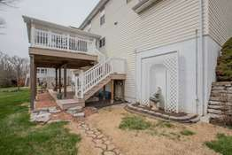 Deck with Stairs Leading to the Lower Level Patio!