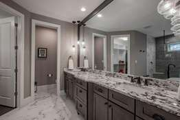 Spa-Like Bath, Double Vanity with Top-Tier Granite Counters