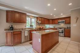 Spacious Kitchen with Custom Cabinetry, Center Island
