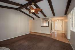 Vaulted Ceiling with Wood Beams