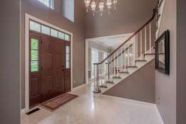 2-Story Entry Foyer with Marble Flooring