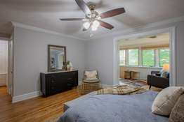 All nicely-sized Bedrooms have crown molding, great closet space, and ceiling fans!