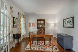 Office / Den with French Doors