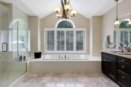 Double Vanity, Large Bubble Jet Tub, and Separate Walk-in Shower