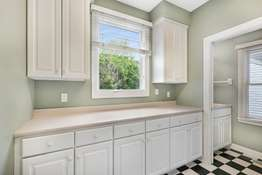 Mud Room Area with Custom Cabinetry
