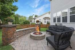 Back Patio with Gas Fire Pit