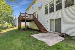 Walk Out Lower Level with Concrete Patio