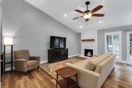 Vaulted Ceiling and Gas Fireplace
