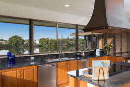 Amazing river views from the kitchen