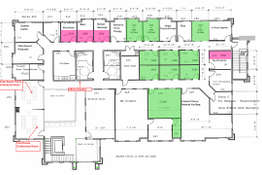 2nd floor floor plan showing the suites available.